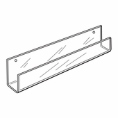 Quick Ship Acrylic Wallmount Long Card Rack