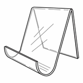 Quick Ship Acrylic Wide Opening Easel 5-1/2in.H