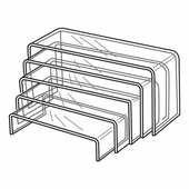 Quick Ship Acrylic Wide Risers Set of 5