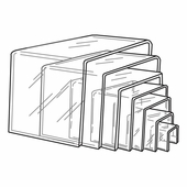Quick Ship Clear Acrylic Square Risers Set of 7