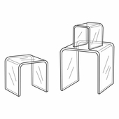 Quick Ship Clear Acrylic Square Small Risers Set of 3