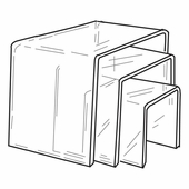 Quick Ship Giant Acrylic Square Risers Set of 3