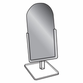 Quick Ship Glass Countertop Mirror 6in.W