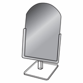 Quick Ship Glass Countertop Mirror 9in.W