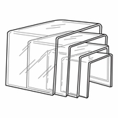 Quick Ship Thick Acrylic Square Risers Set of 4
