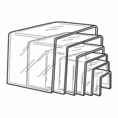 Quick Ship Thick Acrylic Square Risers Set of 6