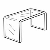 Quick Ship Thick Acrylic Wide Risers