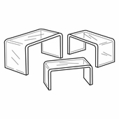 Quick Ship Thick Acrylic Wide Risers Set of 3