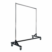 Rolling Garment Z Rack with Black Base
