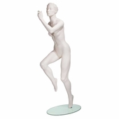 SportSeries Female Runner Mannequin w/ Right Leg Forward