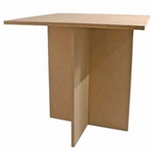 Square Top Unfinished Display Table