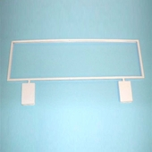 White Grid Card Holder with Mitered Corner Box of 3