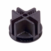 Wire Grid Cubbie 4-Way Plastic Connector - Box of 100