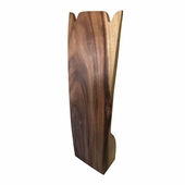 Wood Elite Natural Double U Necklace Display
