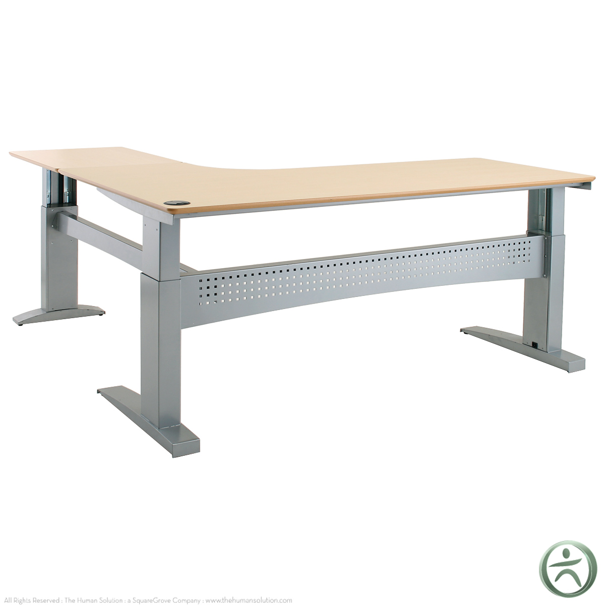 Conset 501 11 Laminate Electric L Shaped Desk Shop L