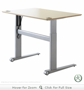 Conset 501-17 Laminate Electric Sit-Stand Desk