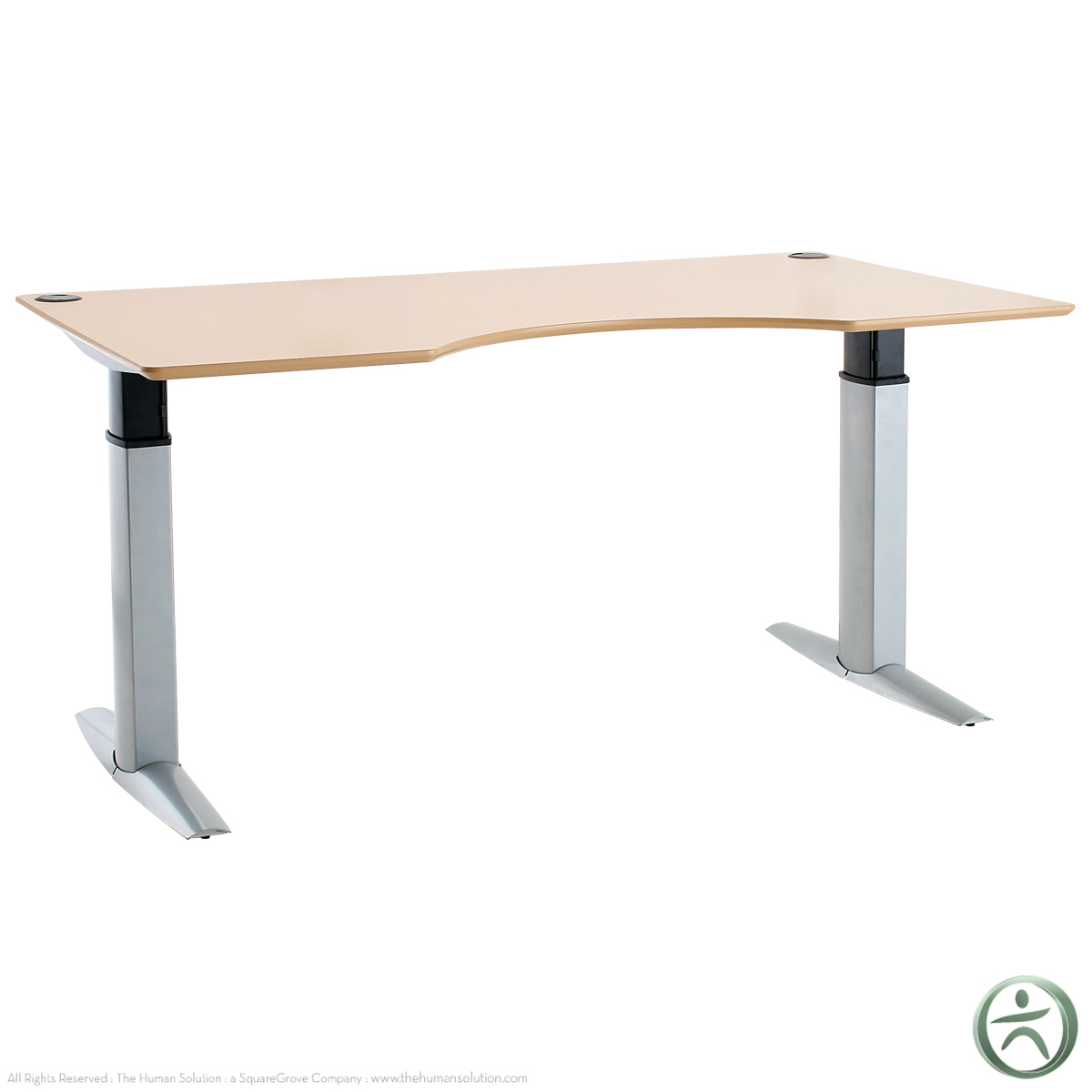 "Conset 501 23 Laminate Electric 26"" 46 5"" Sit Stand Desk"