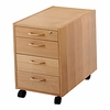 Conset Four Drawer Mobile Pedestal
