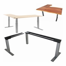 Corner and L-Shaped Electric Adjustable Height Desks