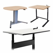 Crank or Pneumatic Height Adjustable Desks