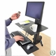 Ergotron WorkFit-S Sit-Stand Workstation