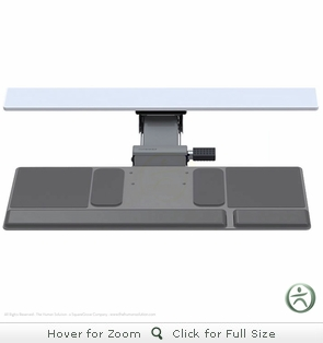 Humanscale 500 & 550 Platinum Keyboard Trays