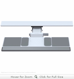Humanscale 500 & 550 White Keyboard Trays