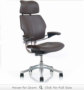 Humanscale Freedom Chair in Leather with Headrest