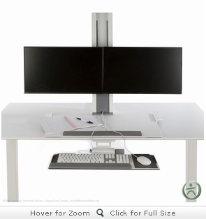 Humanscale QuickStand Height Adjustable Workstation - Dual Monitor