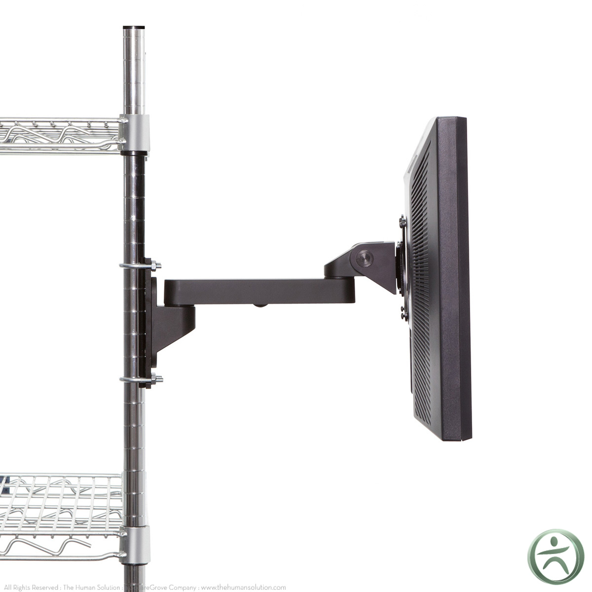 Innovative Monitor Mount Wire Shelving 1200 x 1200