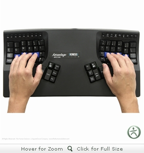 Kinesis Advantage Contoured USB Keyboard for PC and MAC