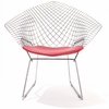 Knoll Bertoia Diamond Lounge Chair with Seat Cushion
