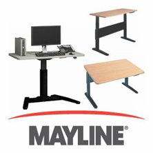 Mayline Adjustable Height Desks