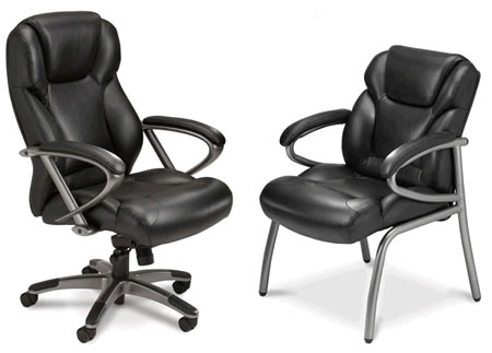 Mayline Ultima UL350H and UL310G Luxury High-Back Executive and Guest Chairs