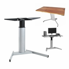 Pedestal Electric Adjustable Height Desks