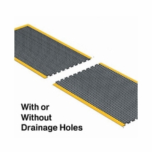 Rhino Ultra Dome Interlocking Solid and Drain-Thru Anti-Fatigue Mat