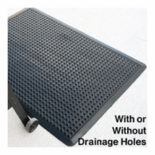 Rhino Ultra Dome Workstation Solid and Drain-Thru Anti-Fatigue Mat