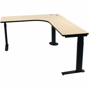 Sis Surf2 Electric Height Adjustable L Shaped Desk Set Right