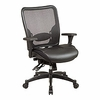 Space Chair Matrex Back & Layered Leather Seat Ergonomic Chair 68-50764