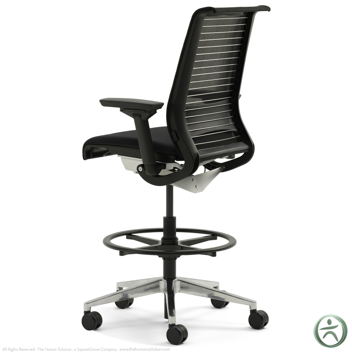 Shop Steelcase Think Drafting Stools With 3D Knit Back
