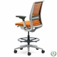 Steelcase Think Drafting Stool with 3D Knit Back