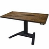 UpLift 970 Solid Wood Height-Adjustable Pedestal Standing Desk - Next Day Ship