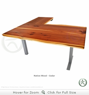 UpLift 700 Cedar Solid Wood Electric Sit-Stand 3-Leg Desk