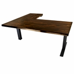 UpLift 700 Solid Wood Electric 28'' - 47.7'' Sit-Stand 3-Leg Desk - Design Your Own