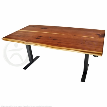 Uplift 800 Cedar Solid Wood Electric 23 49 Quot Sit Stand Desk