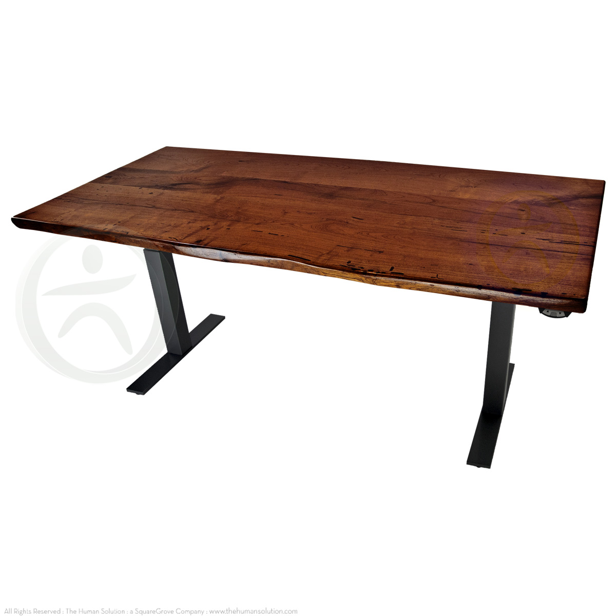 Shop Uplift 800 Mesquite Solid Wood Electric Sit Stand Desk