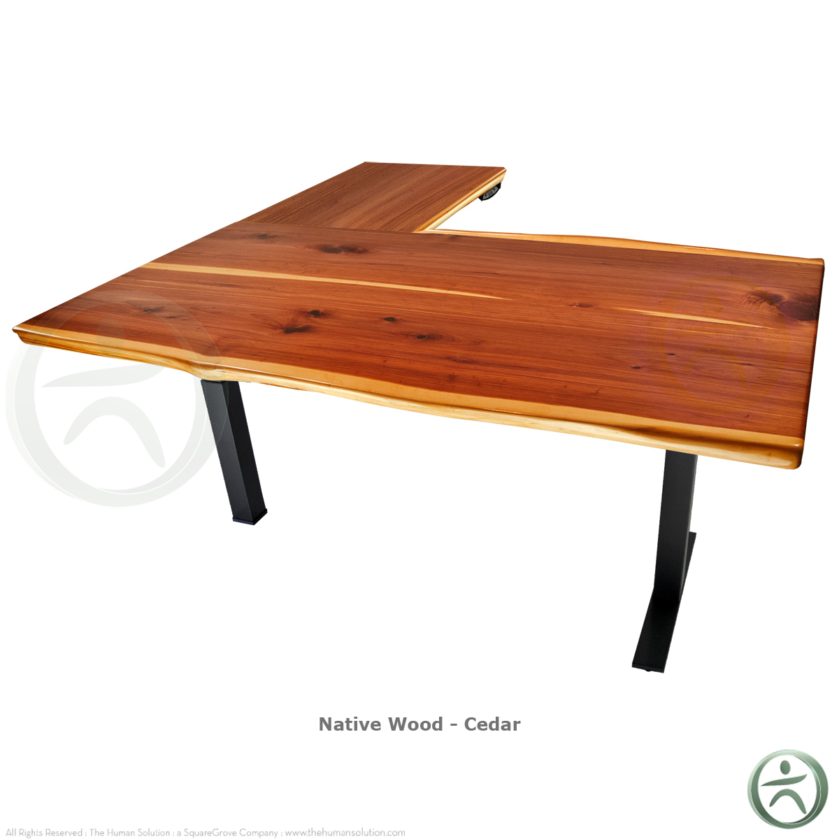Uplift 800 Solid Wood Electric 23 49 Sit Stand 3 Leg Desk