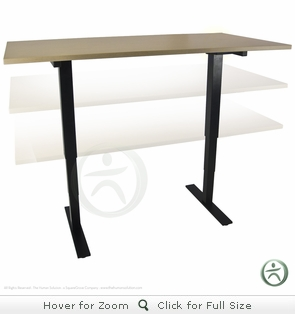 UPLIFT 830 Counterbalanced Pneumatic Standing Desk