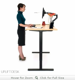 UPLIFT 900 Adjustable-Height Standing Desk (Black)