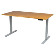"""UPLIFT 900 Sit-Stand Desk with Premium 1"""" Thick Bamboo Top"""